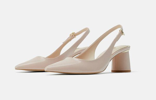 Лакированные туфли на каблуке Zara, цена 2 599 руб