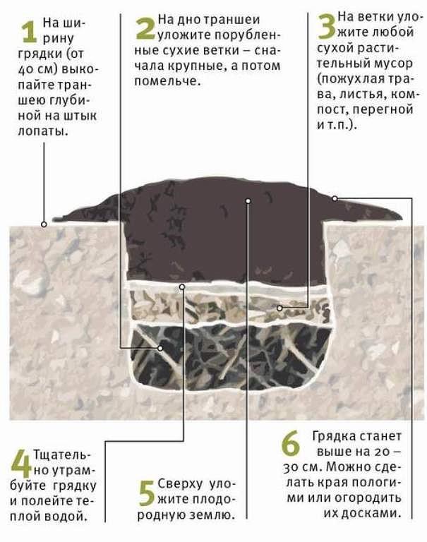 Как сделать правильно сделать грядку под