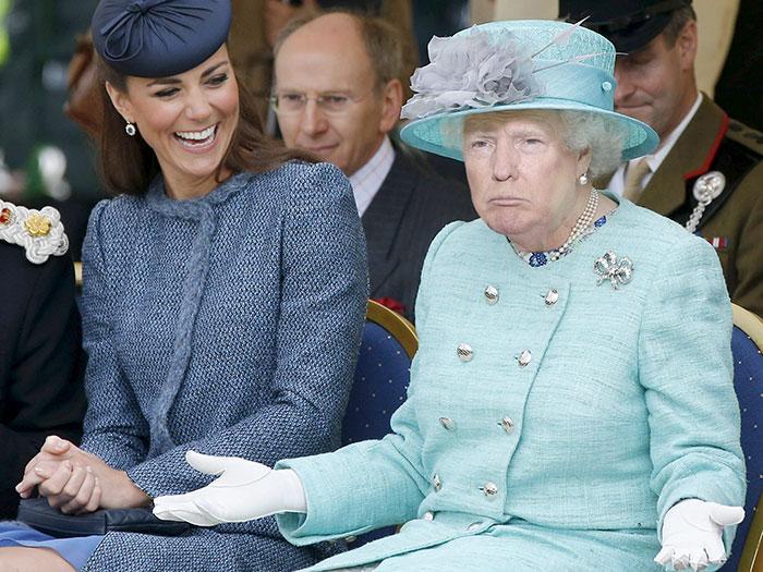 Кто-то превратил Дональда Трампа в королеву Великобритании, и результат просто пугает
