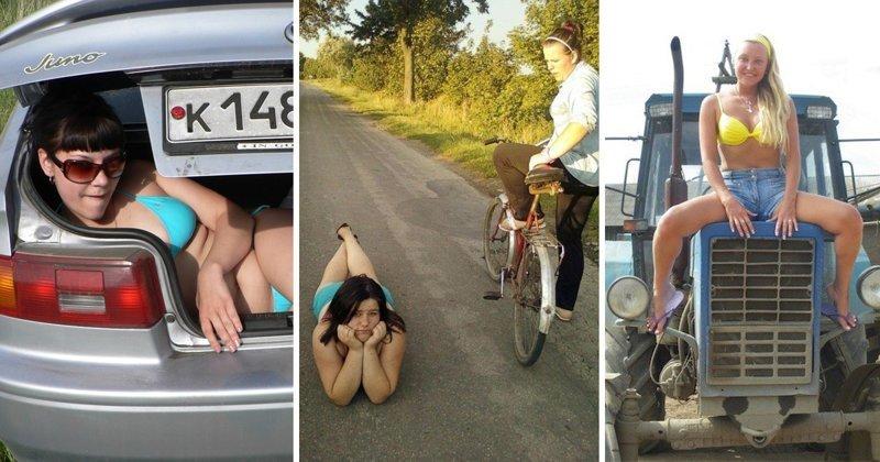 Сельские простушки, или как живется девушкам без пилинга и стретчинга (24 фото)