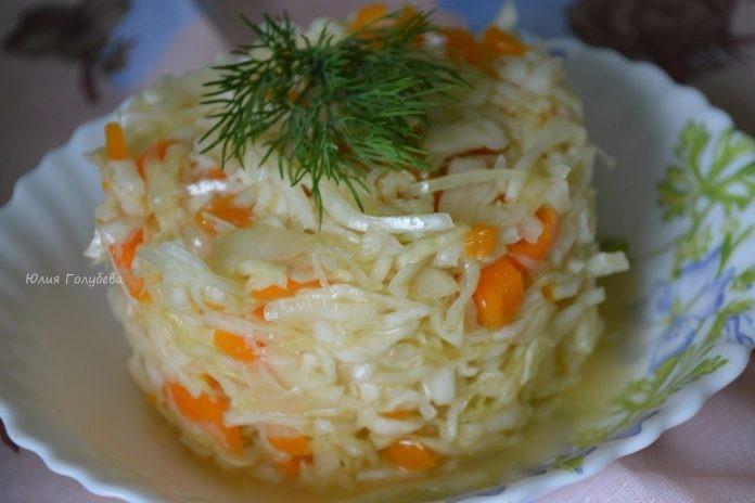 Хрустящая капуста маринованная с перцем — божественно вкусно!