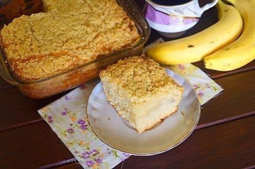 Бразильский банановый пирог.