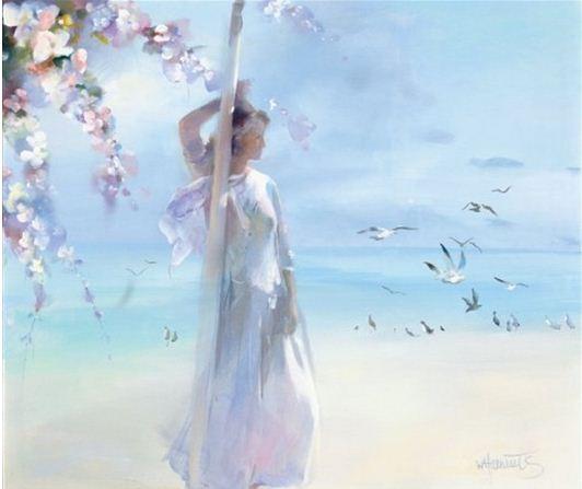 Willem Haenraets. Воздушная живопись. THE BEACH