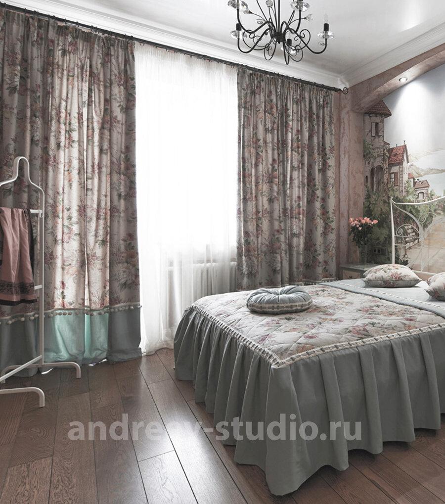 Фото спальни из реализованного проекта частного дома. Дизайнеры интерьеров Андрей и Екатерина Андреевы.