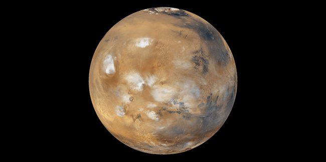 Снежные бури на Марсе
