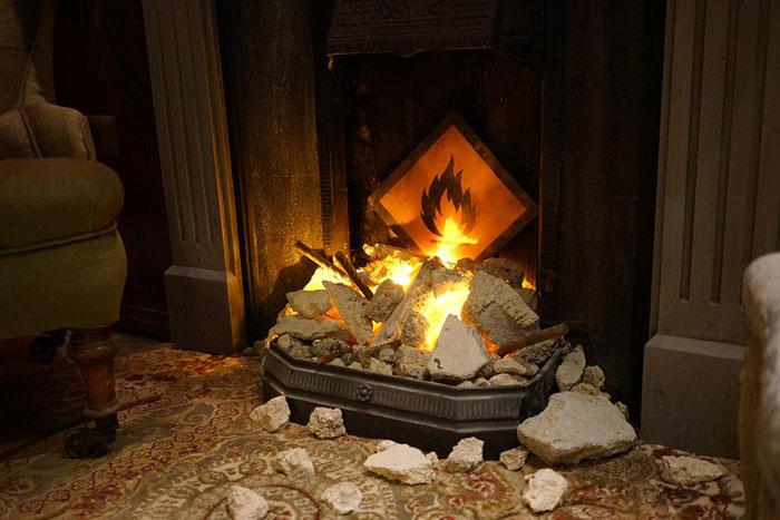 Пожаробезопасный камин.