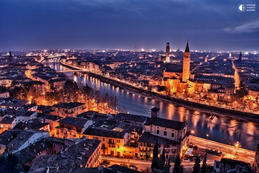Один из красивейших городов в Италии - Верона