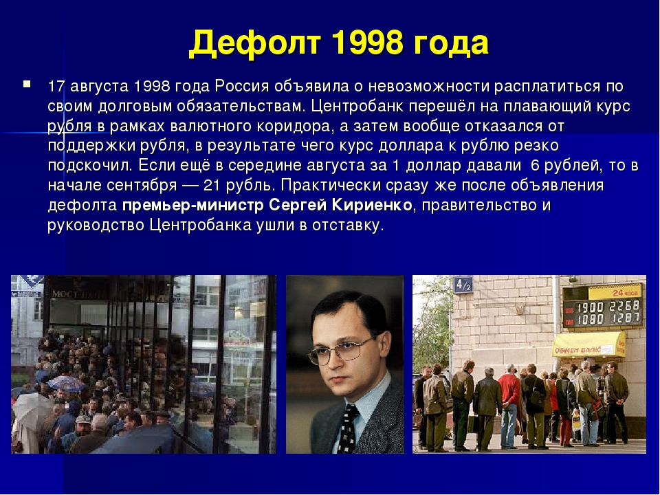 20 лет ельцинскому дефолту