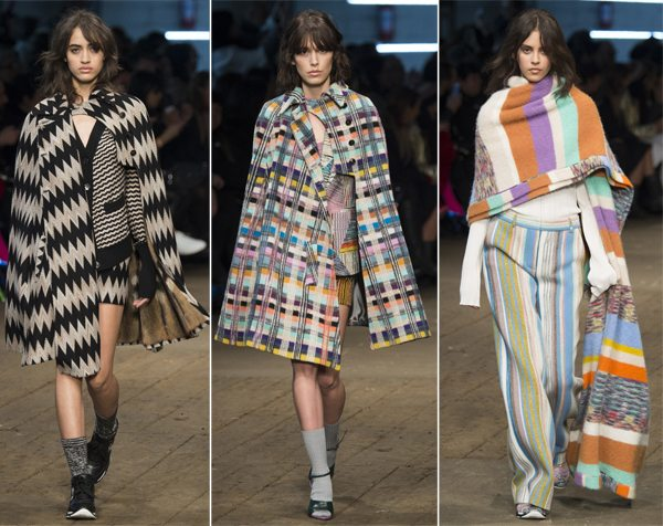 Модные кейпы Missoni осень-зима 2017