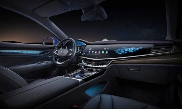 Geely показала салон гибридной версии Emgrand GT
