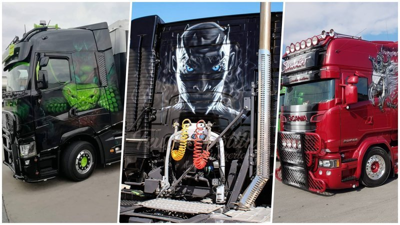 25+ отличных примеров как круто может смотреться аэрография на грузовиках