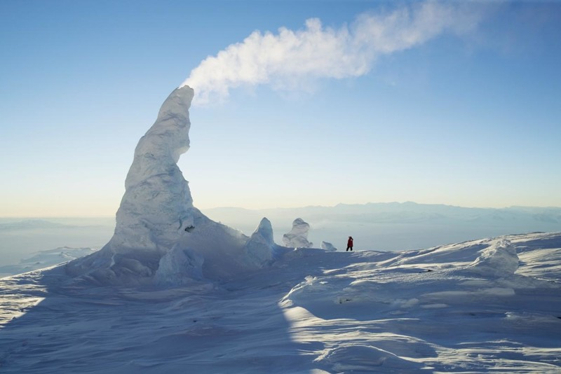3. Снежные трубы жизнь, интересное, красота, мир, природа, феномен, фото, явление