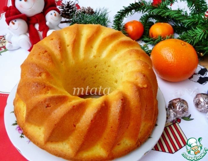 Нежный рассыпчатый апельсиновый кекс
