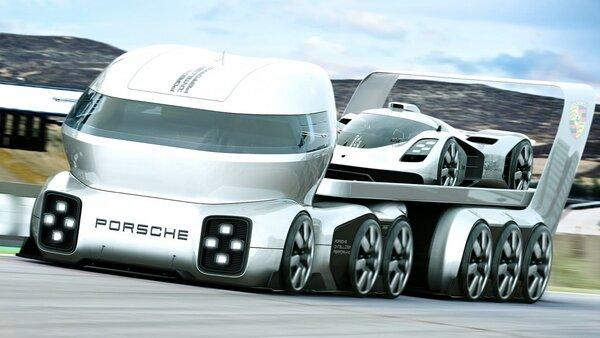 Дизайнер из Грузии создал проект автовоза Porsche