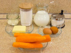 Морковное суфле. Ингредиенты