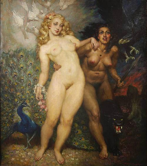 Прелестные нимфы, козлоногие обольстители и демоны в картинах Нормана Линдсея 63