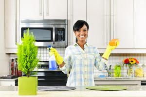 Как отмыть плиту, микроволно…
