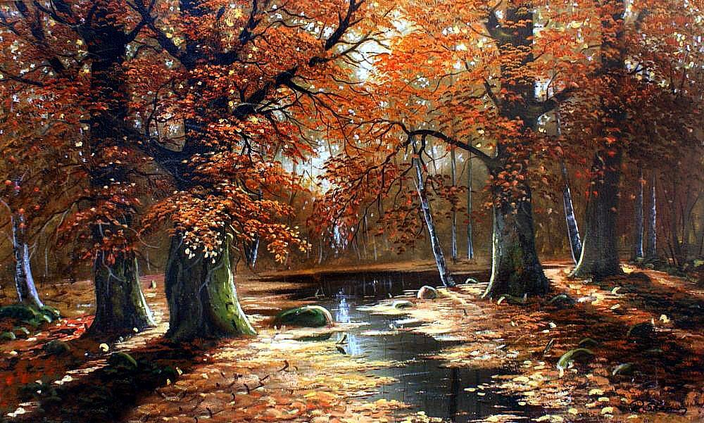 Богатство  красок  и  терпкое настроение замечательных осенних пейзажей Ольги Дидык