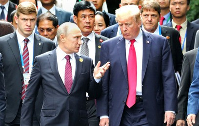 Путин поблагодарил Трампа за информацию о террористах в Санкт-Петербурге