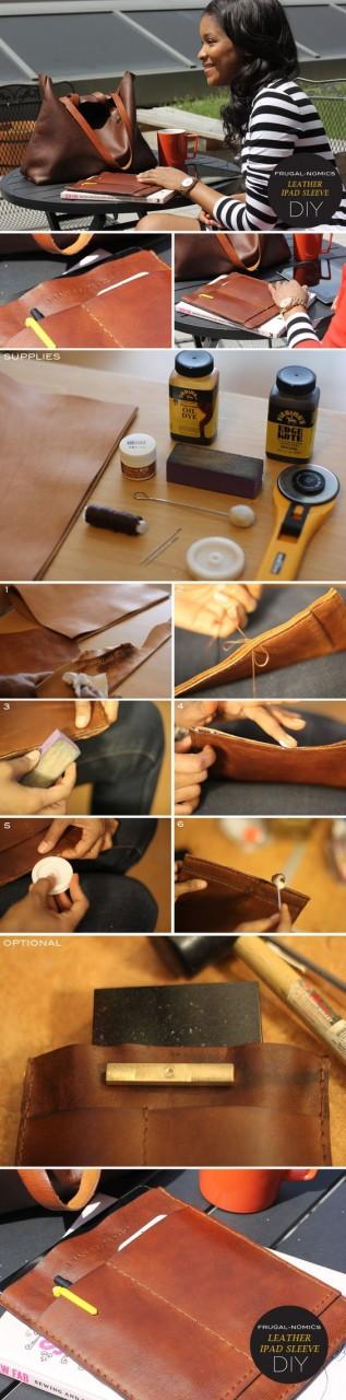 Кожаный карман для гаджетов diy