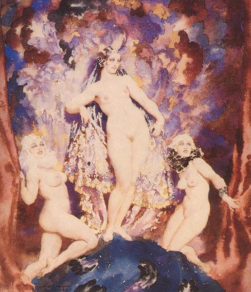 Прелестные нимфы, козлоногие обольстители и демоны в картинах Нормана Линдсея 9