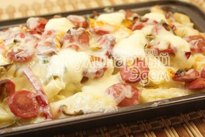 Картофель и сосиски