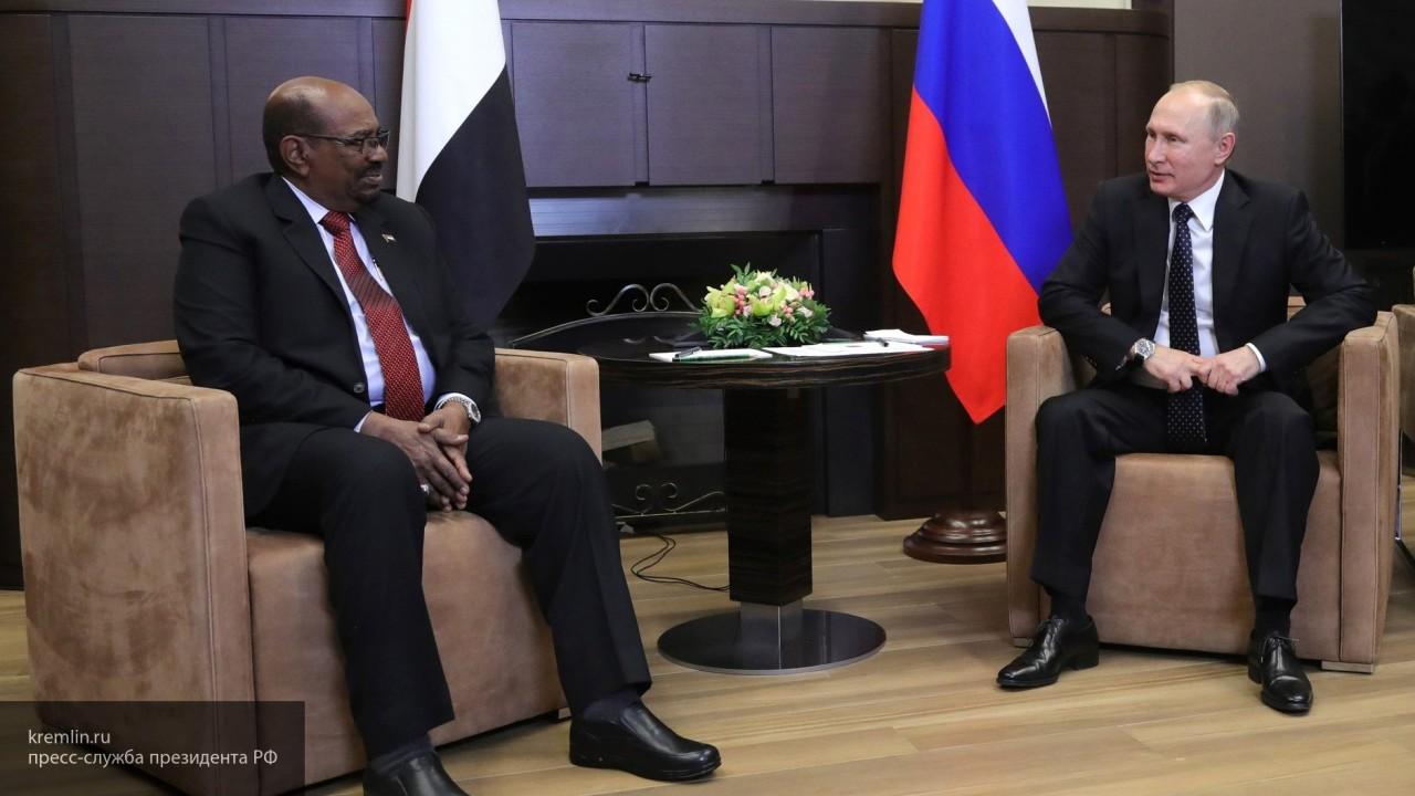 Стало известно, что обсудили президент Судана и Путин в Сочи