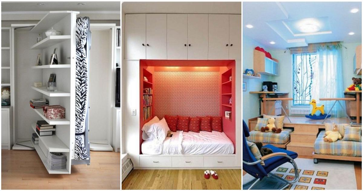 12 блестящих идей для размещения просторной кровати в маленькой комнате