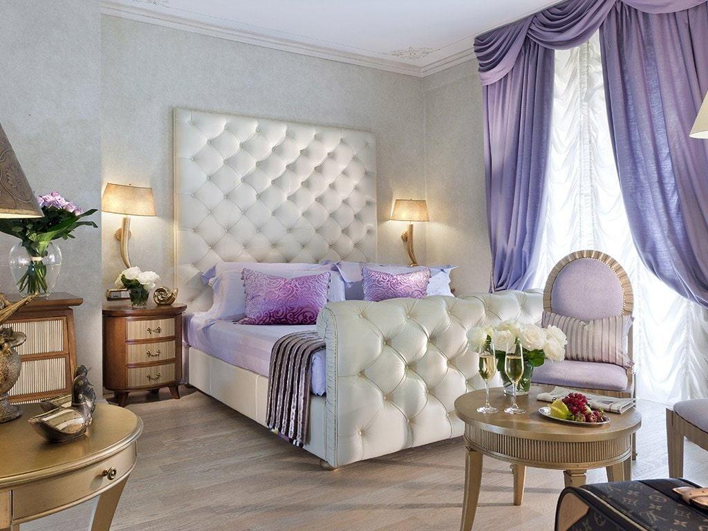 Сиреневые шторы или гардины — модное оформление окон в разных комбинациях