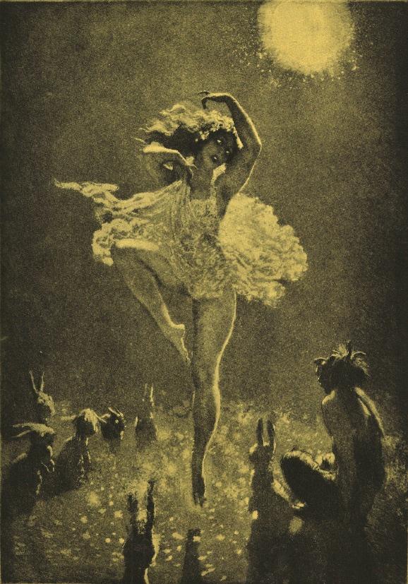 Прелестные нимфы, козлоногие обольстители и демоны в картинах Нормана Линдсея 48