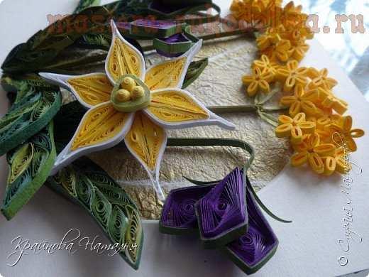 Мастер-класс по квиллингу: Весенние цветы
