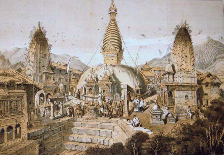 Древняя посадочная площадка кораблей пришельцев в Непале
