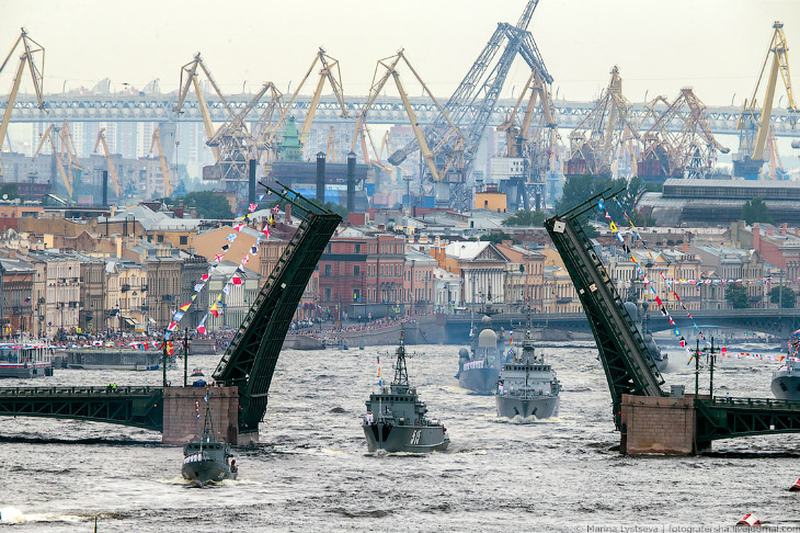 Репетиция парада ВМФ 2018 в Санкт-Петербурге