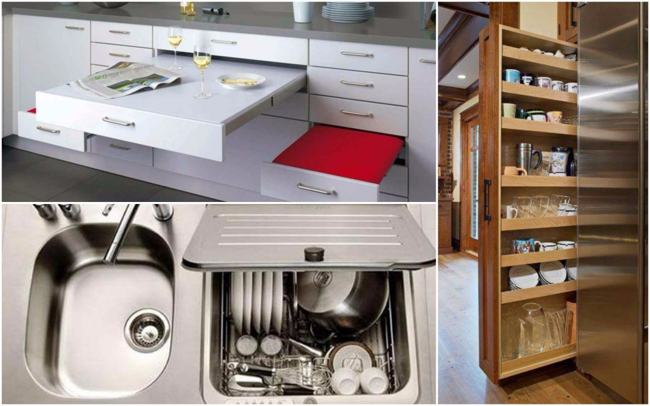 Гениальные дизайнерские решения для маленькой кухни