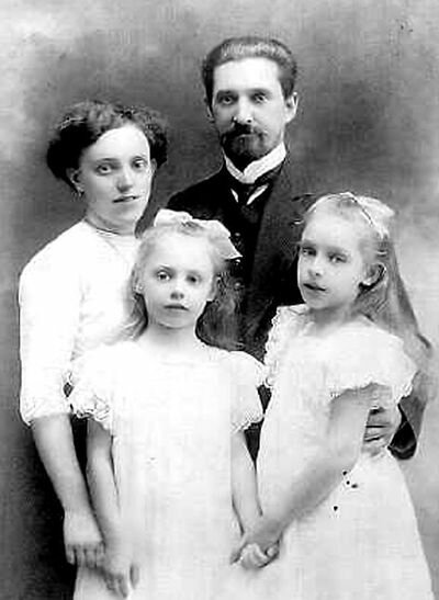 Леонид Бекман с семьей