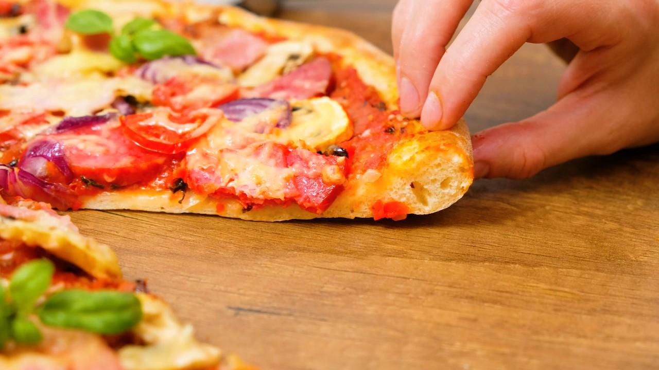 Тесто для пиццы пышное и мягкое