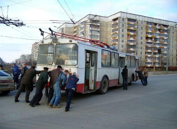 Суровый общественный транспорт
