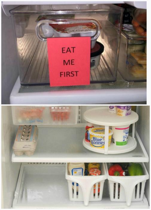 Хранение продуктов в холодильнике.