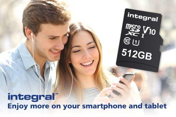 На карту microSD от Integral Memory помещается 512 Гб данных