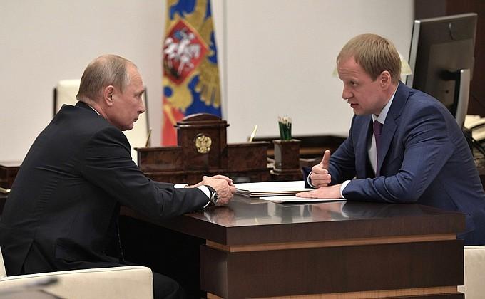 Встреча с врио главы Алтайского края Виктором Томенко
