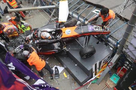 Страшная авария на Гран-При Макао. Болид взлетел в воздух словно ракета