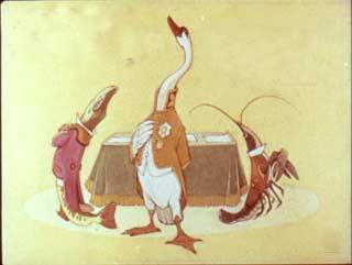 Однажды Лебедь, Рак да Щука Везти с поклажей воз взялись...