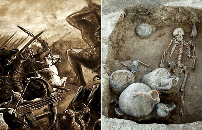 Загадочные древности: Кто создал уникальный кубок из золота и стекла, найденный в кургане на юге России