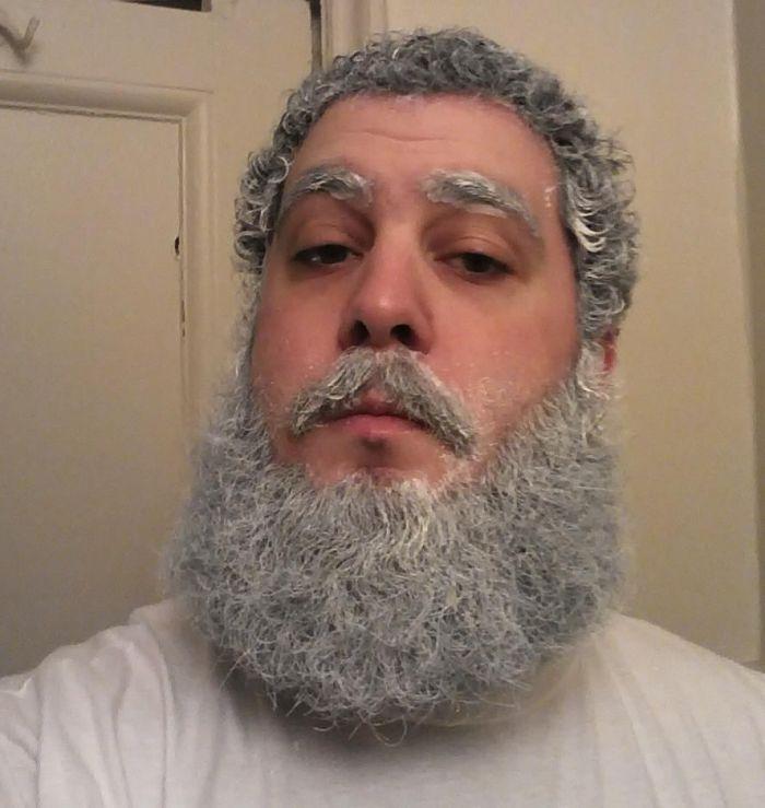 Из чего сделать бороду старика своими руками фото