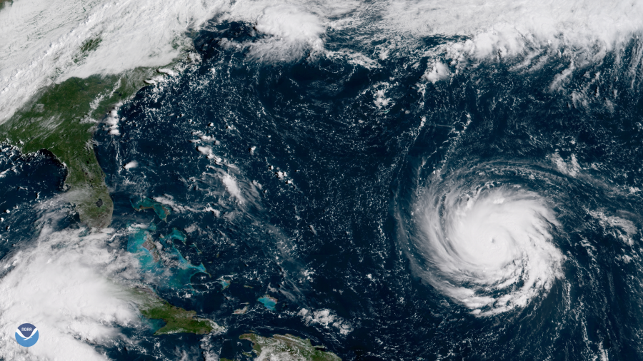 Ураган Флоренс из космоса