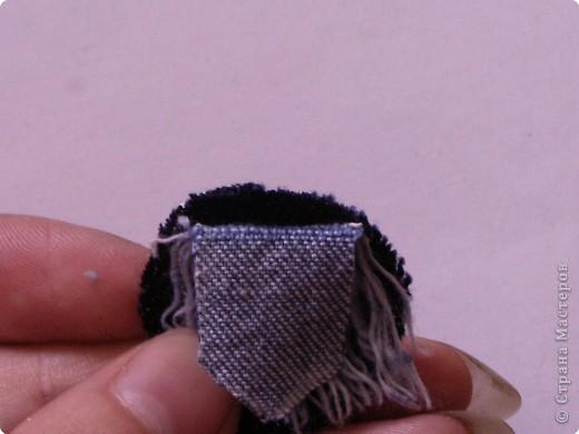 Мастер-класс Вырезание: Цветок из джинса №2+МК Ткань. Фото 8