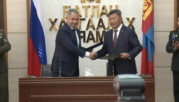 Россия и Монголия подписали программу военного сотрудничества