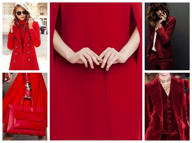 Алый и красный цвета — удачные сочетания в одежде для ярких образов