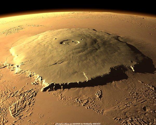 Гора Олимп, которая на Марсе