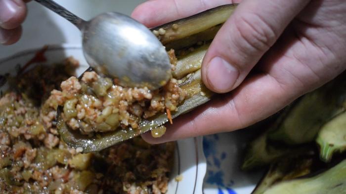 Лодочки из баклажан Sango Food, Видео, Видео рецепт, Длиннопост, Еда, Рецепт, Клинария, Фаршированные баклажаны